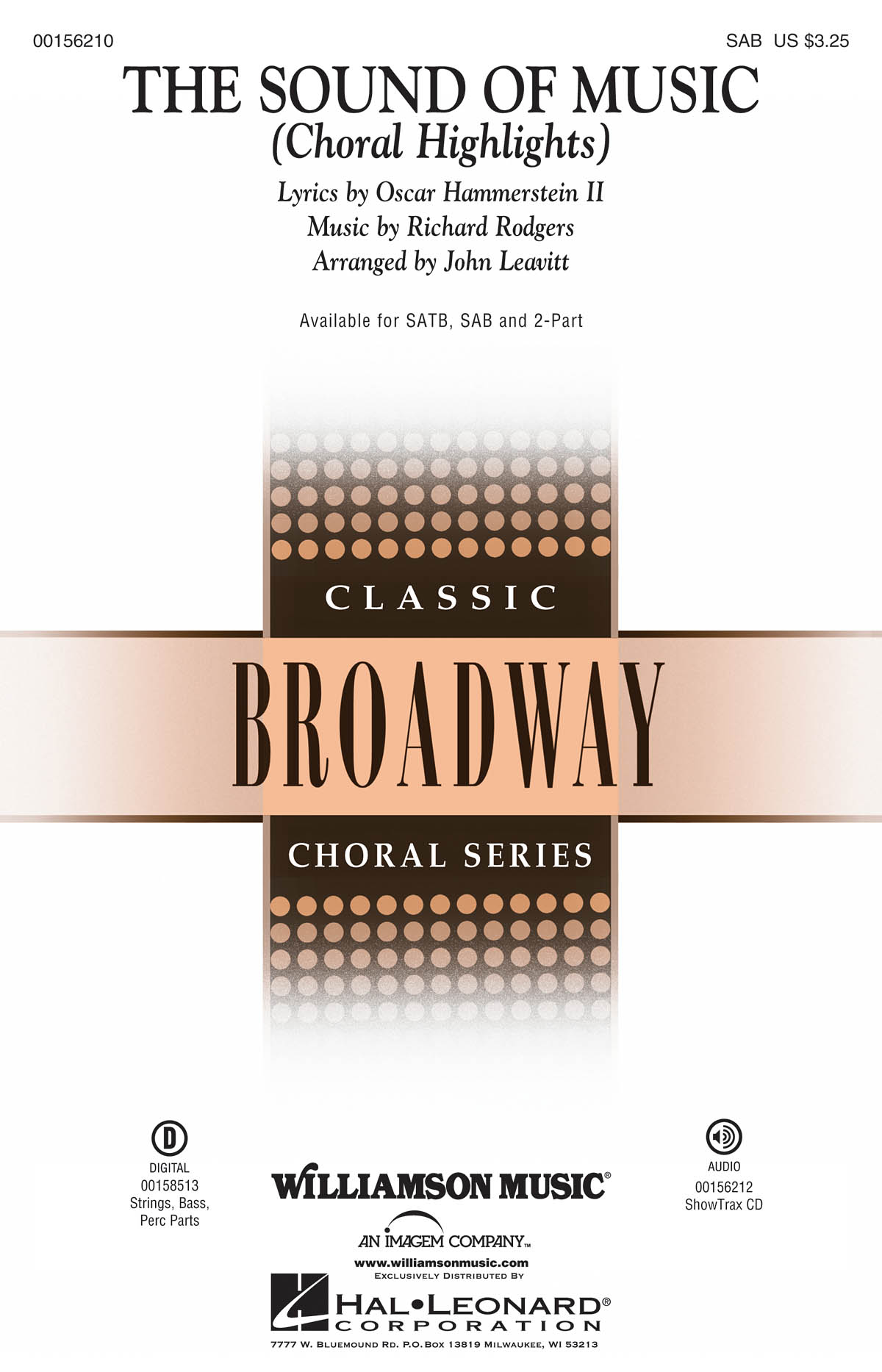 Julie Andrews: The Sound Of Music - Choral Highlights (SAB). Sheet Music for SAB Piano Accompaniment