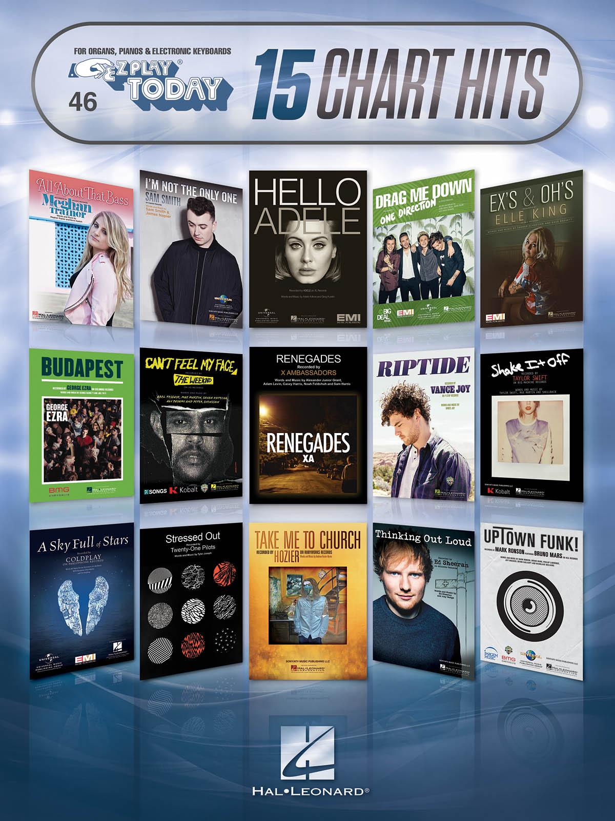 15 Chart Hits: Melody Lyrics and Chords: Mixed Songbook