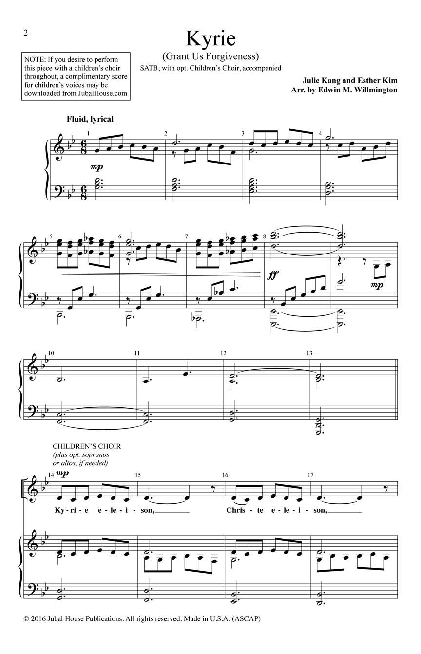 Edwin M. Willmington: Kyrie: Mixed Choir a Cappella: Vocal Score