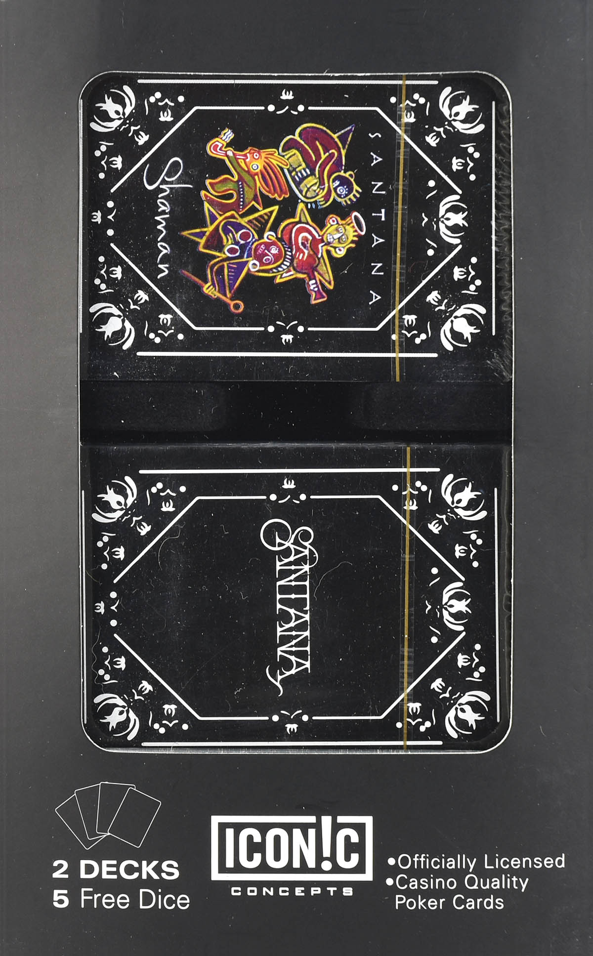 Santana Double Deck Playing Card Set with Dice: Game