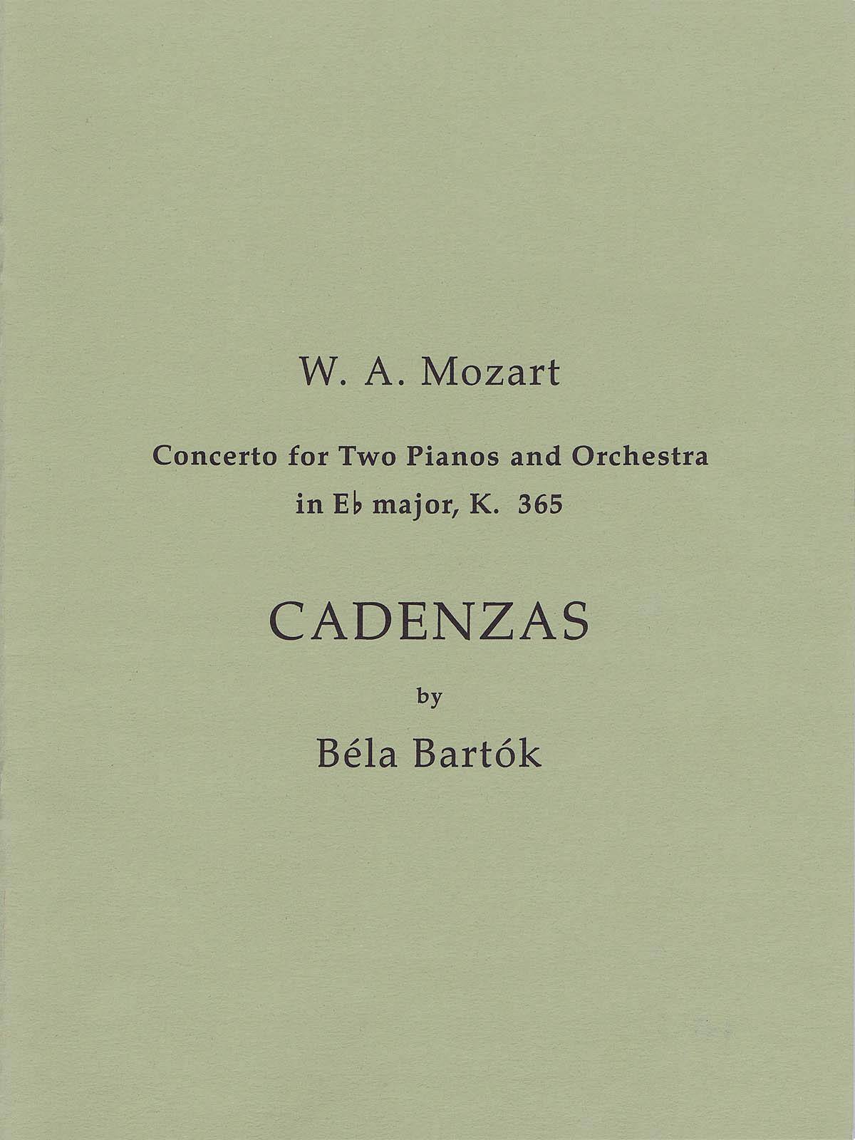 Béla Bartók: Cadenzas to Mozart