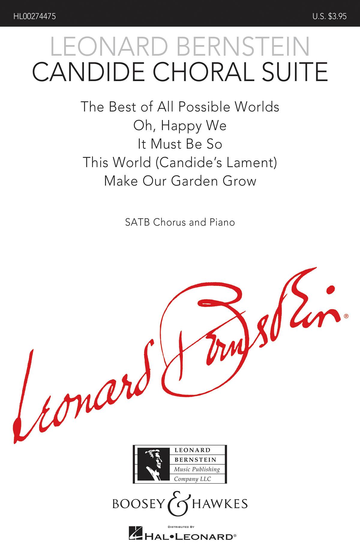 Leonard Bernstein: Candide Choral Suite: Mixed Choir and Piano/Organ