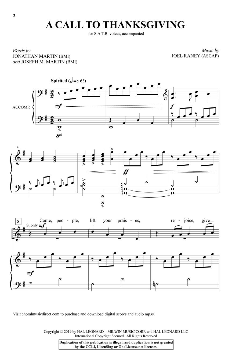 A Call to Thanksgiving: Mixed Choir a Cappella: Vocal Score