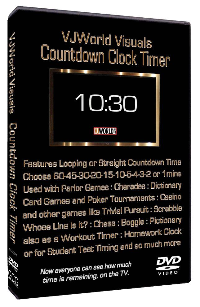 VJ World Visuals Countdown Clock Timer: DVD