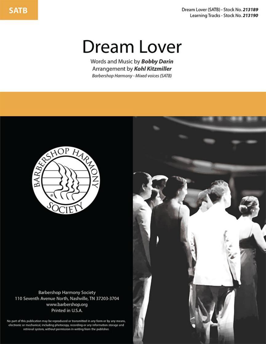 Bobby Darin: Dream Lover: Mixed Choir a Cappella: Choral Score