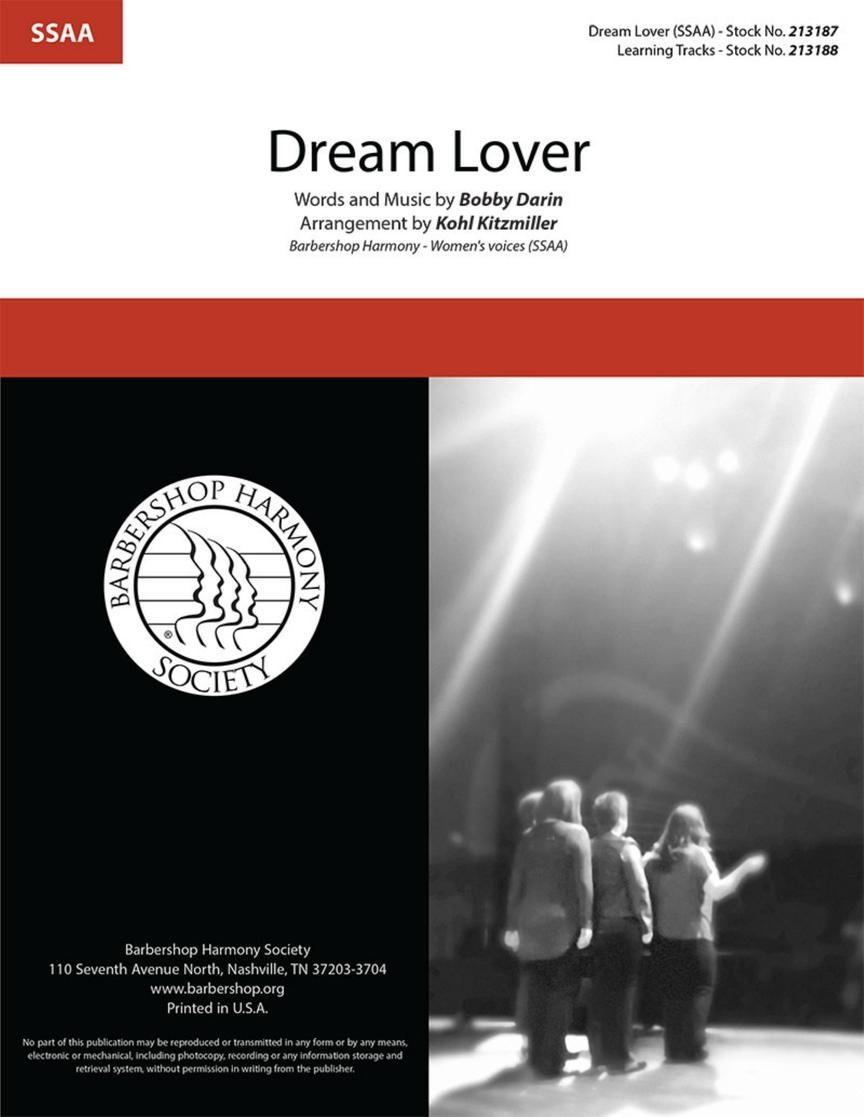 Bobby Darin: Dream Lover: Upper Voices a Cappella: Choral Score