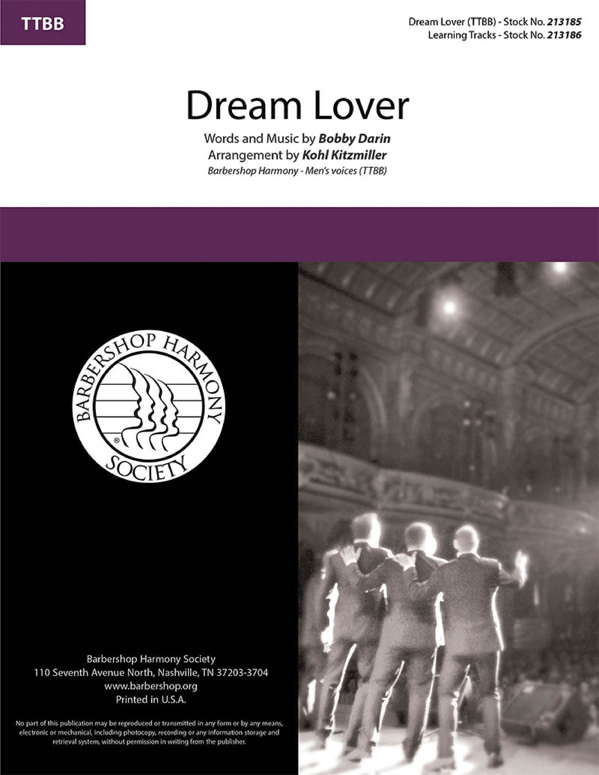 Bobby Darin: Dream Lover: Lower Voices a Cappella: Choral Score
