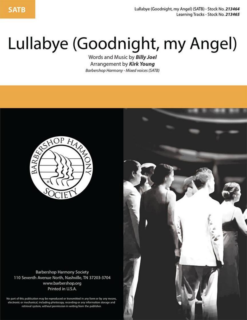 Billy Joel: Lullabye (Goodnight My Angel): Mixed Choir a Cappella: Vocal Score