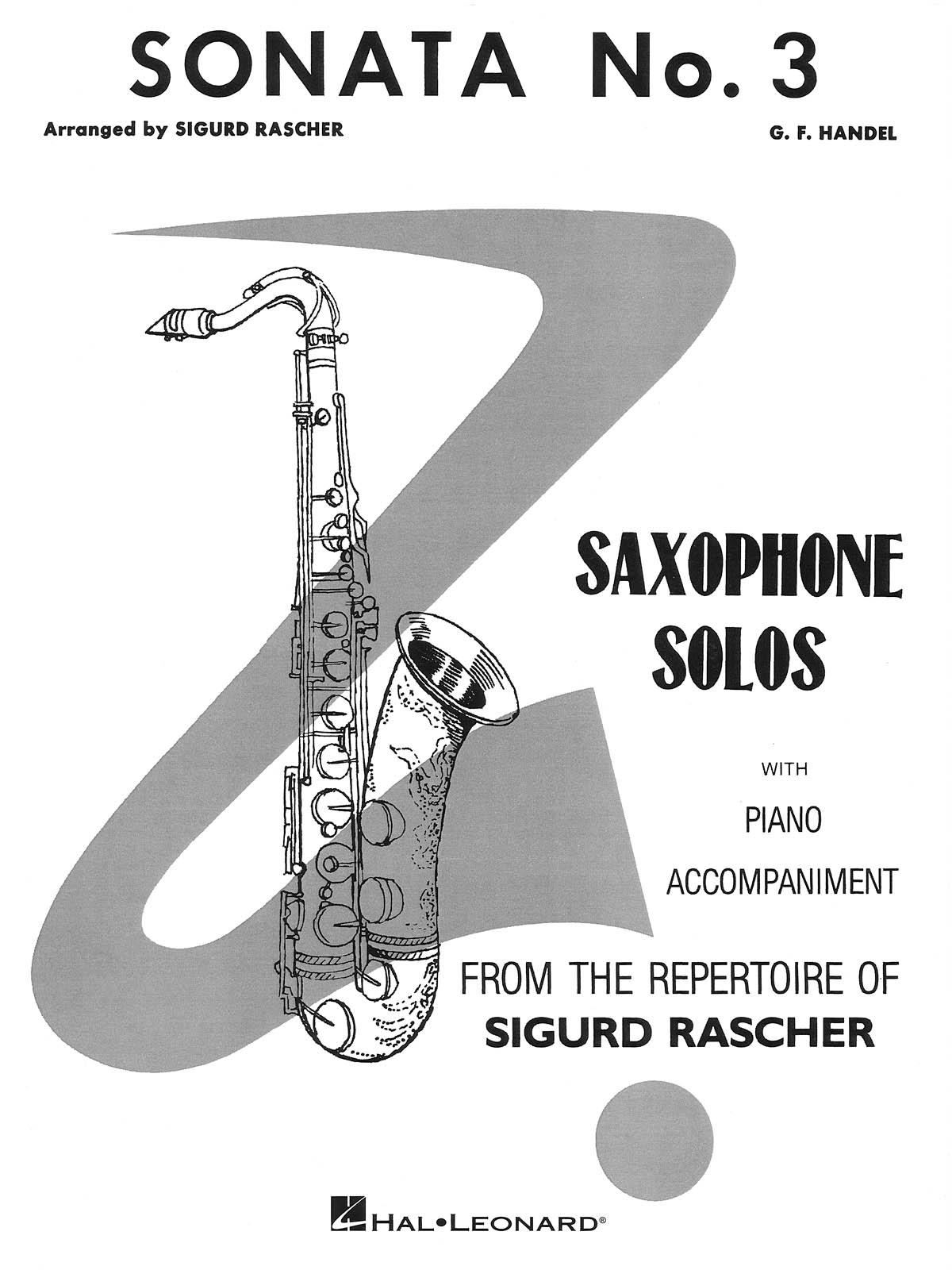 Georg Friedrich Händel: Sonata No. 3: Saxophone: Instrumental Work