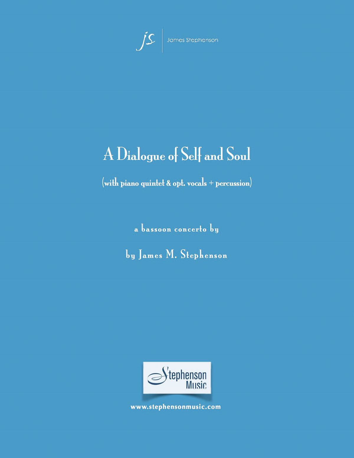 Jim Stephenson: A Dialogue Of Self And Soul: Chamber Ensemble: Score and Parts