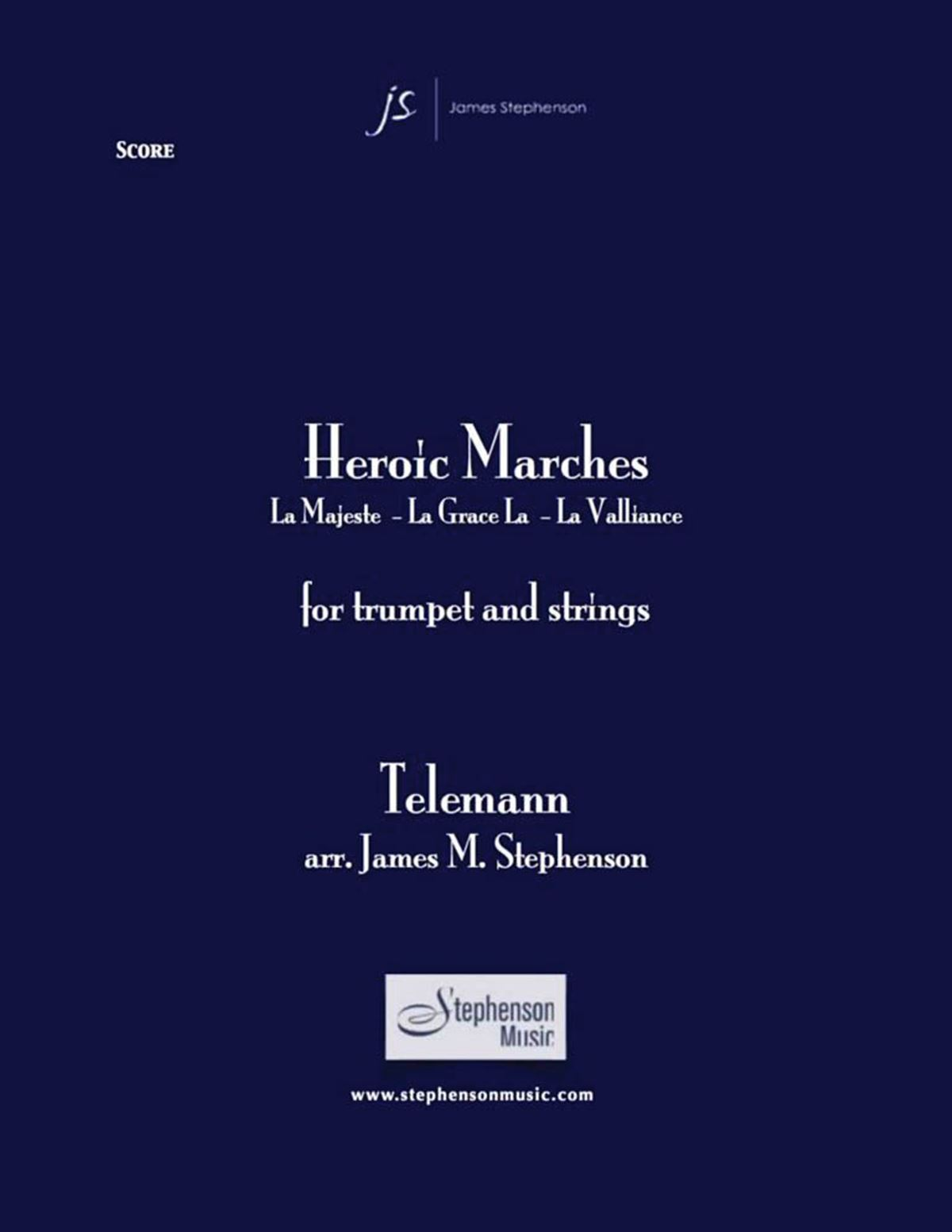 Georg Philipp Telemann: Heroic Marches: Chamber Ensemble: Score and Parts
