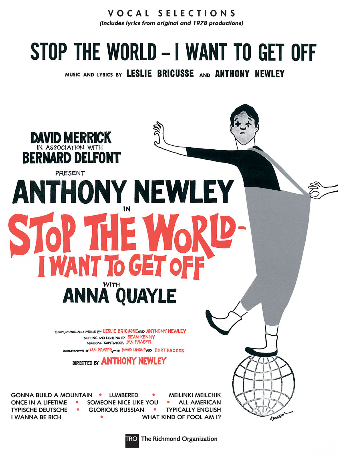 Anthony Newley Leslie Bricusse: Stop the World - I Want to Get Off: Piano Vocal