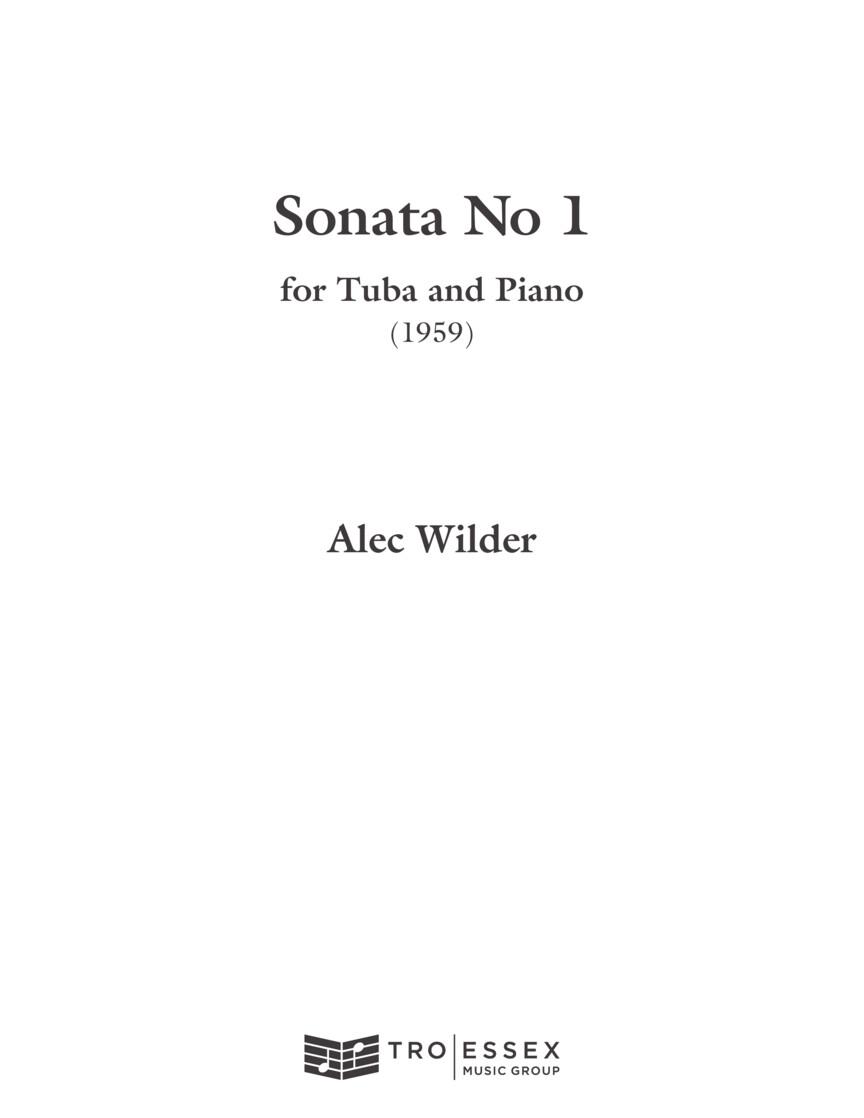 Alec Wilder: Sonata for Tuba and Piano (1959): Tuba and Accomp.: Instrumental