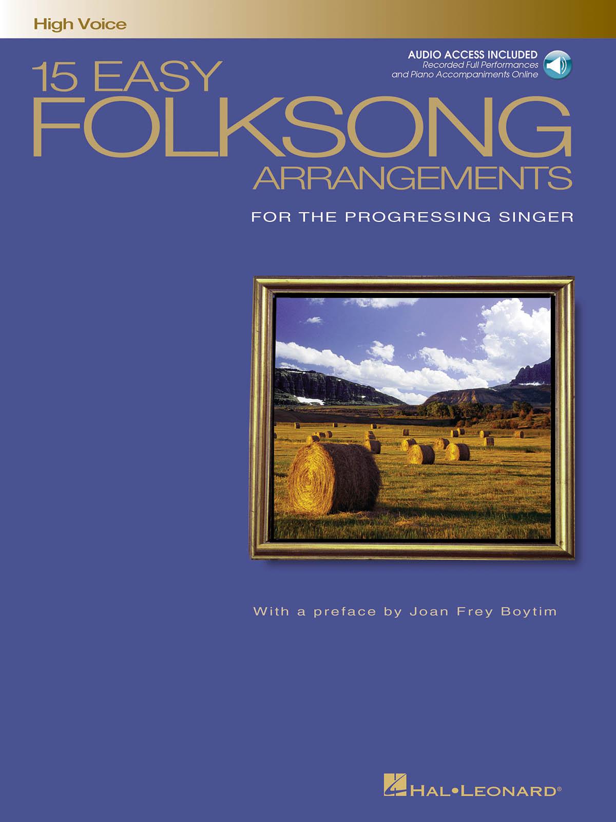 15 Easy Folksong Arrangements: Vocal Solo: Vocal Album