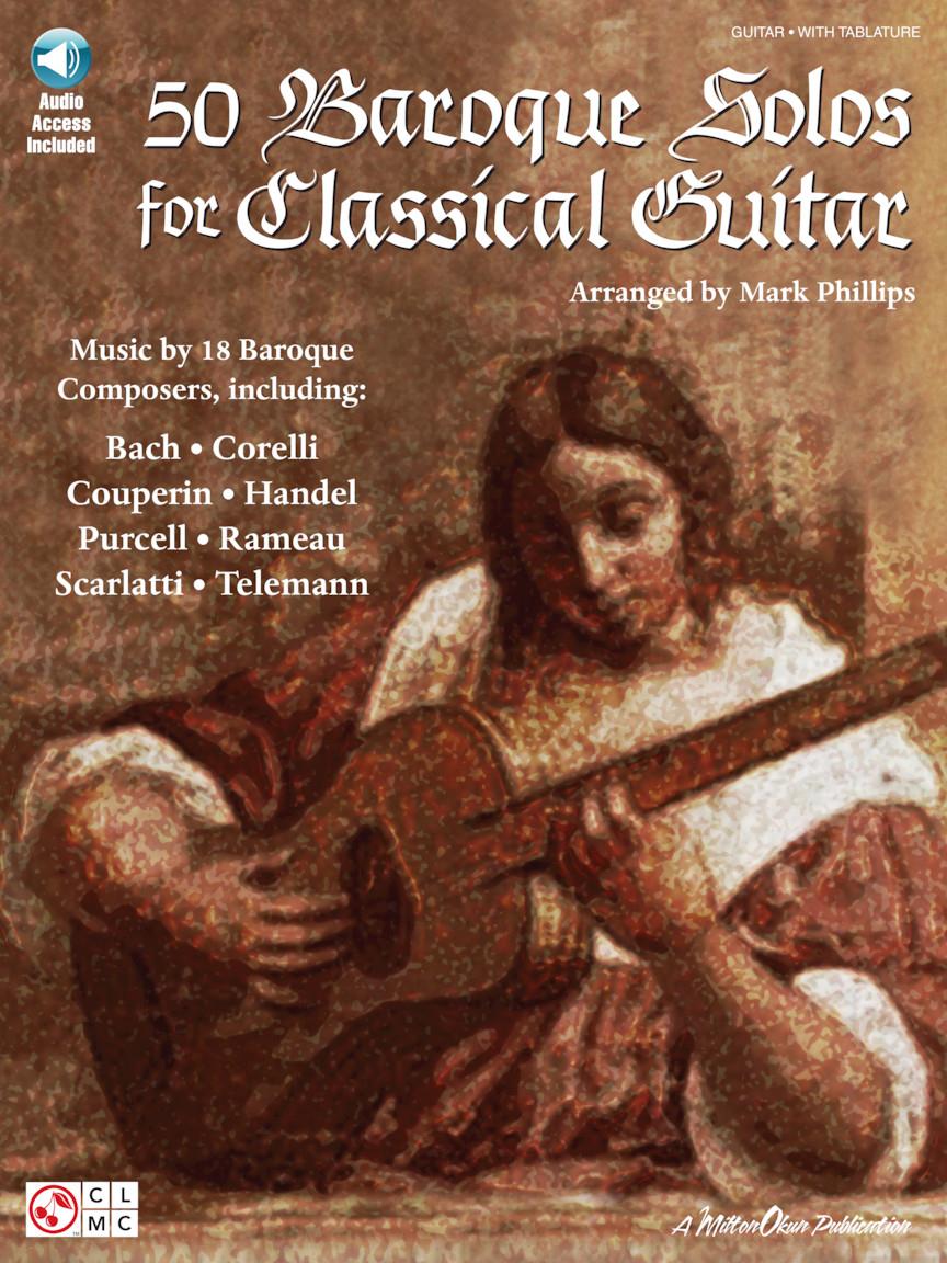 50 Baroque Solos For Classical Guitar: Guitar Solo: Instrumental Album