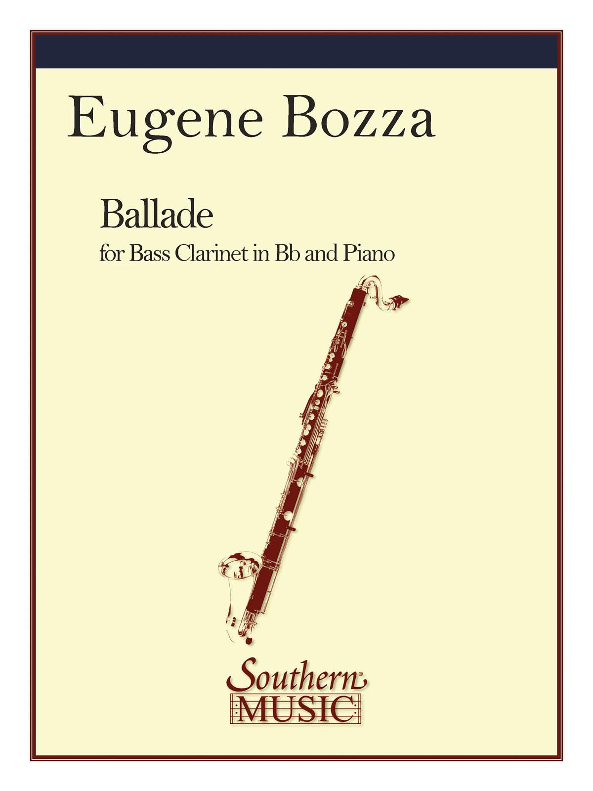 Eugène Bozza: Ballade: Clarinet and Accomp.: Instrumental Album