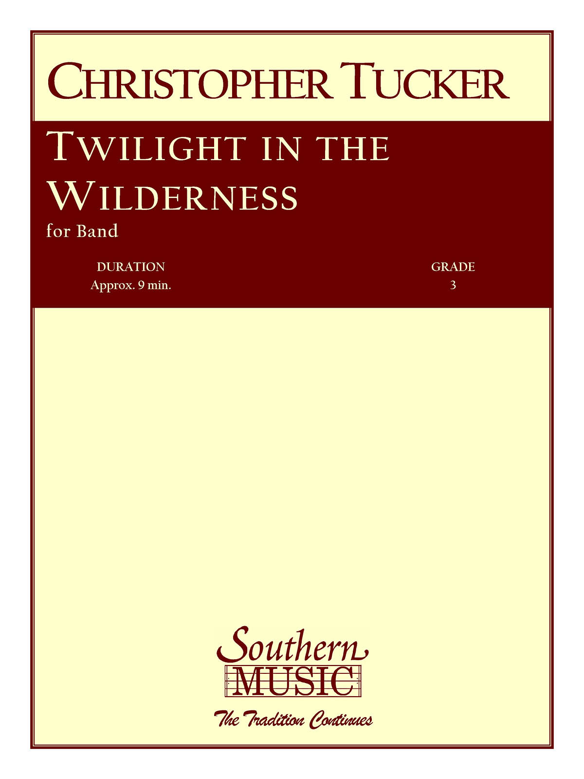 Christopher Tucker: Twilight In The Wilderness: Concert Band: Score & Parts