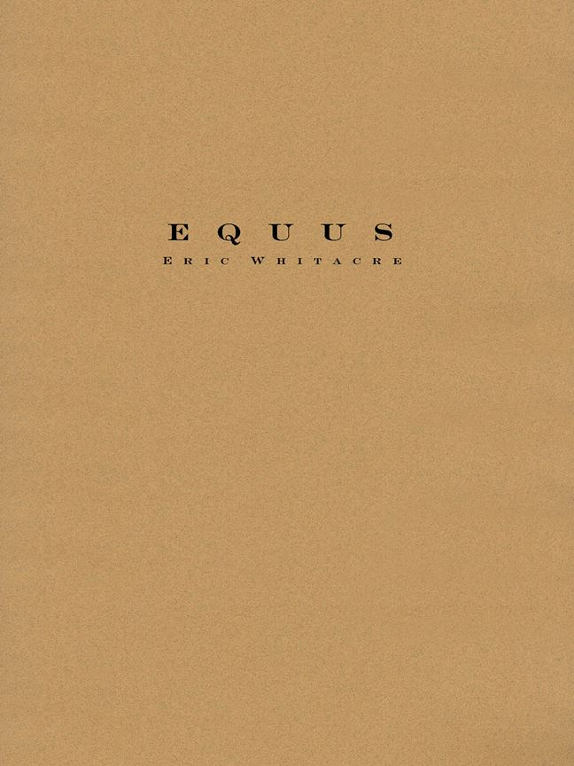 Eric Whitacre: Equus: Concert Band: Score