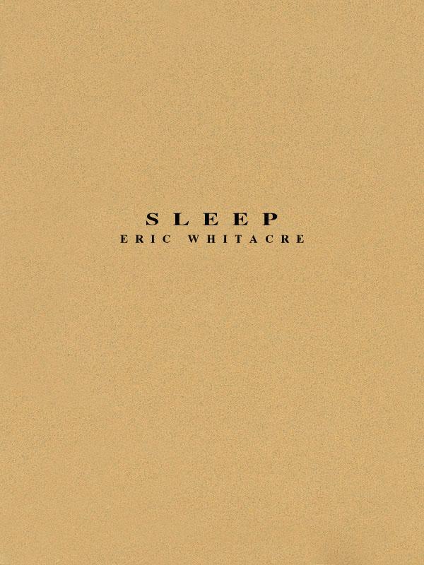 Eric Whitacre: Sleep: Concert Band: Score
