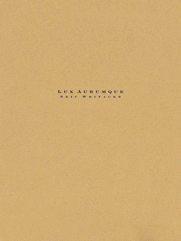 Eric Whitacre: Lux Aurumque: Concert Band: Score