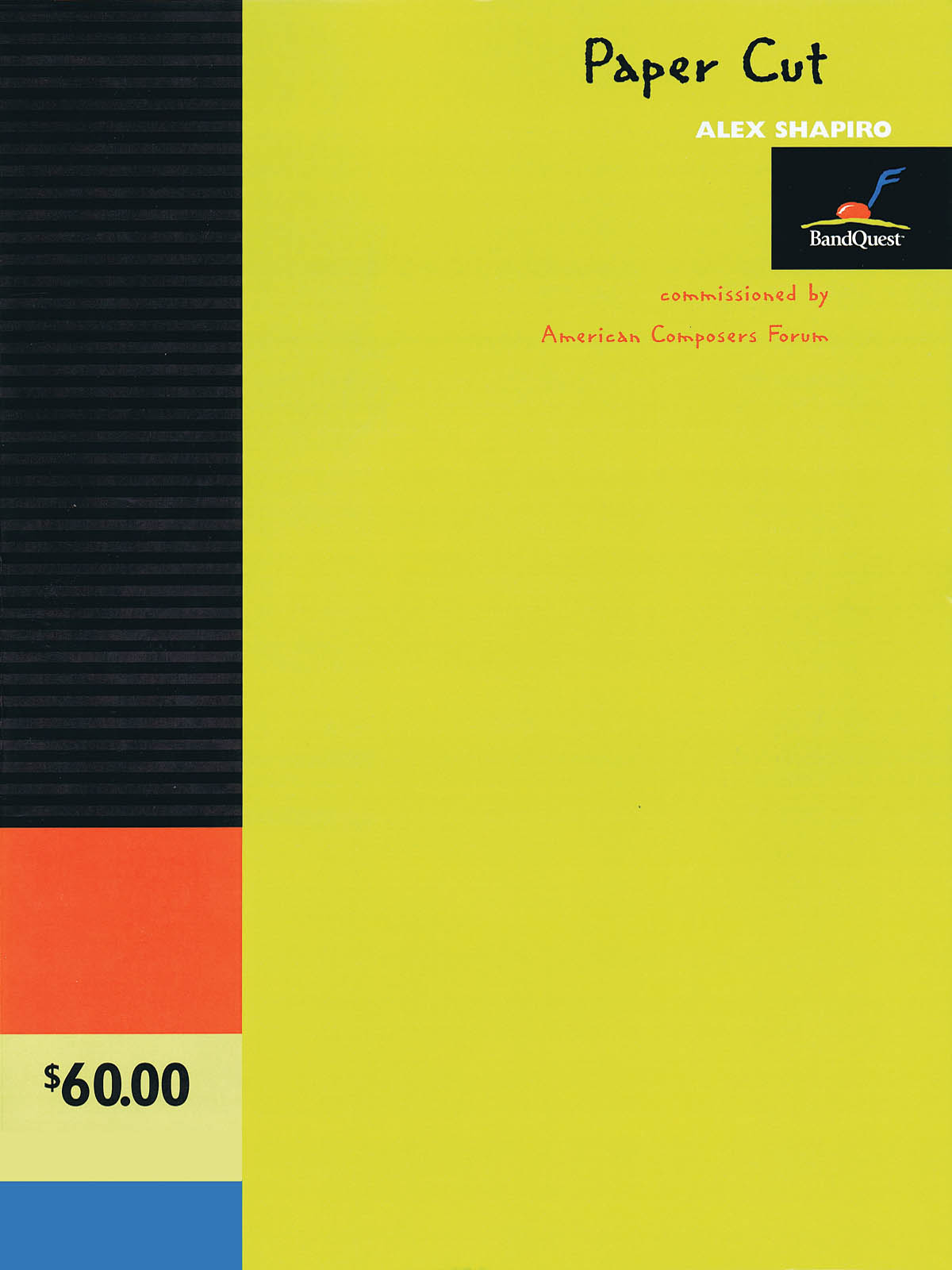 Alex Shapiro: Paper Cut: Concert Band: Score & Parts