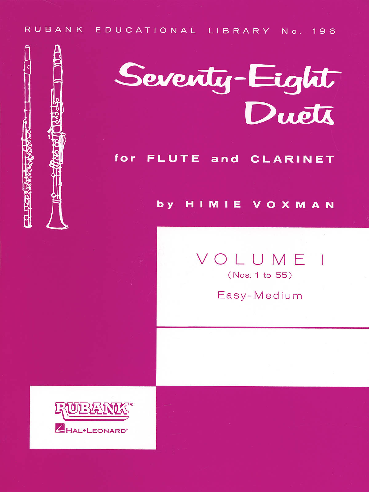 78 Duets for Flute and Clarinet: Flute Solo: Score