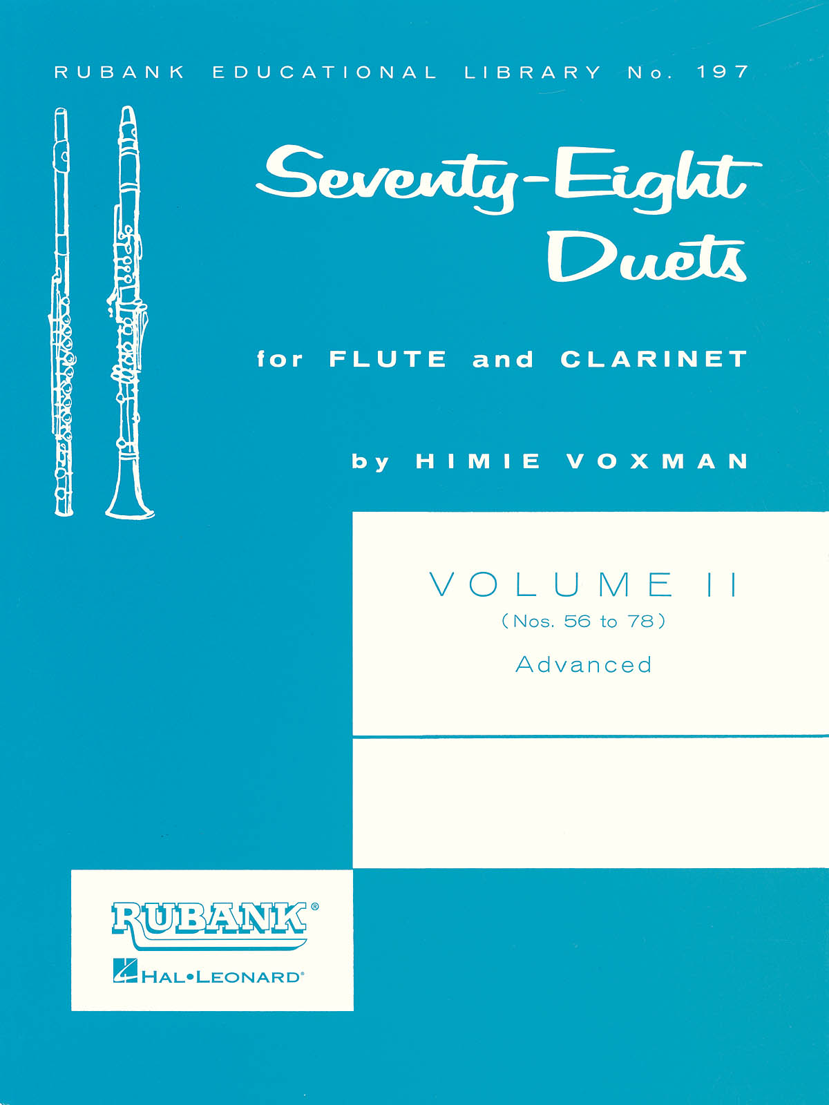 78 Duets for Flute and Clarinet: Mixed Woodwind Duet: Instrumental Album