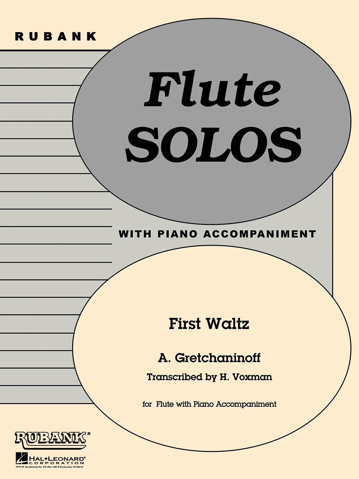 Alexander T. Gretchaninov: First Waltz: Flute and Accomp.: Instrumental Album