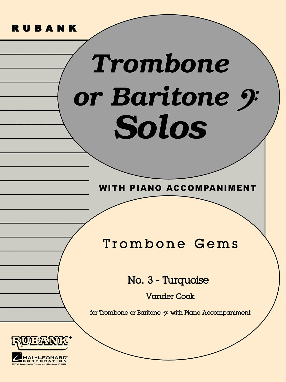 H.A. VanderCook: Turquoise (Trombone Gems No. 3): Trombone and Accomp.: