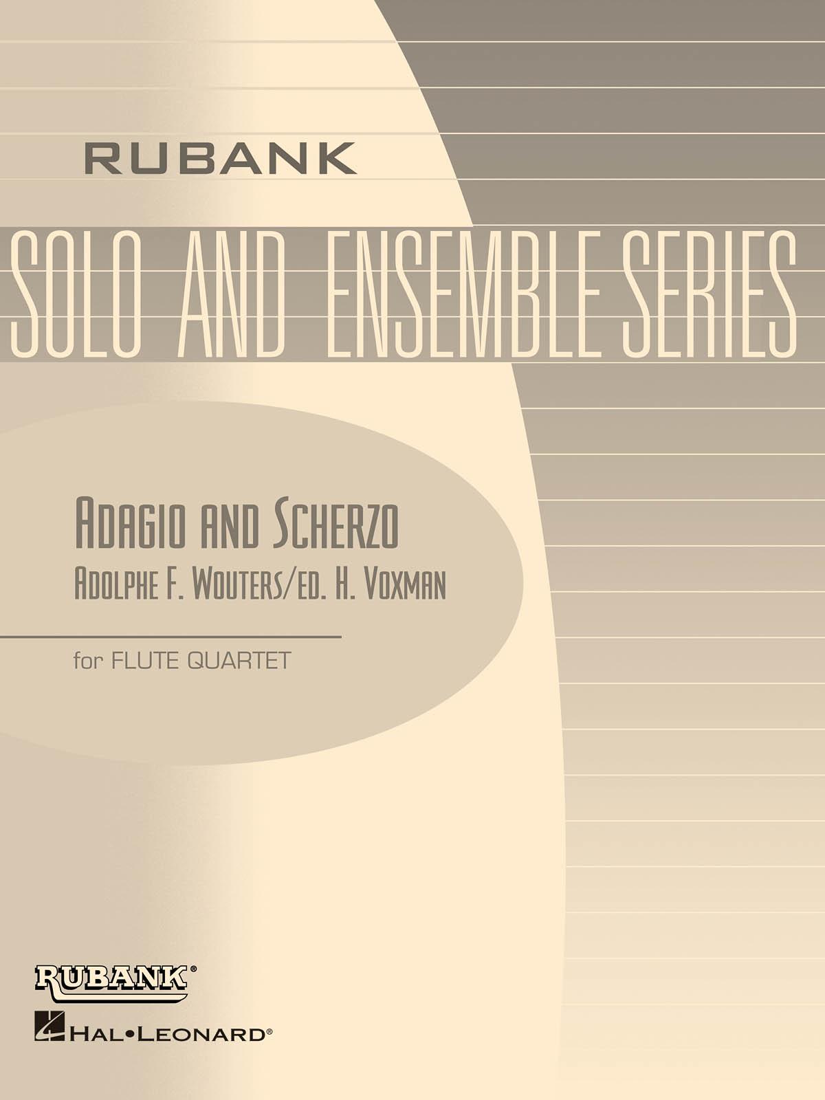 Adolphe F. Wouters: Adagio and Scherzo: Flute Ensemble: Score & Parts