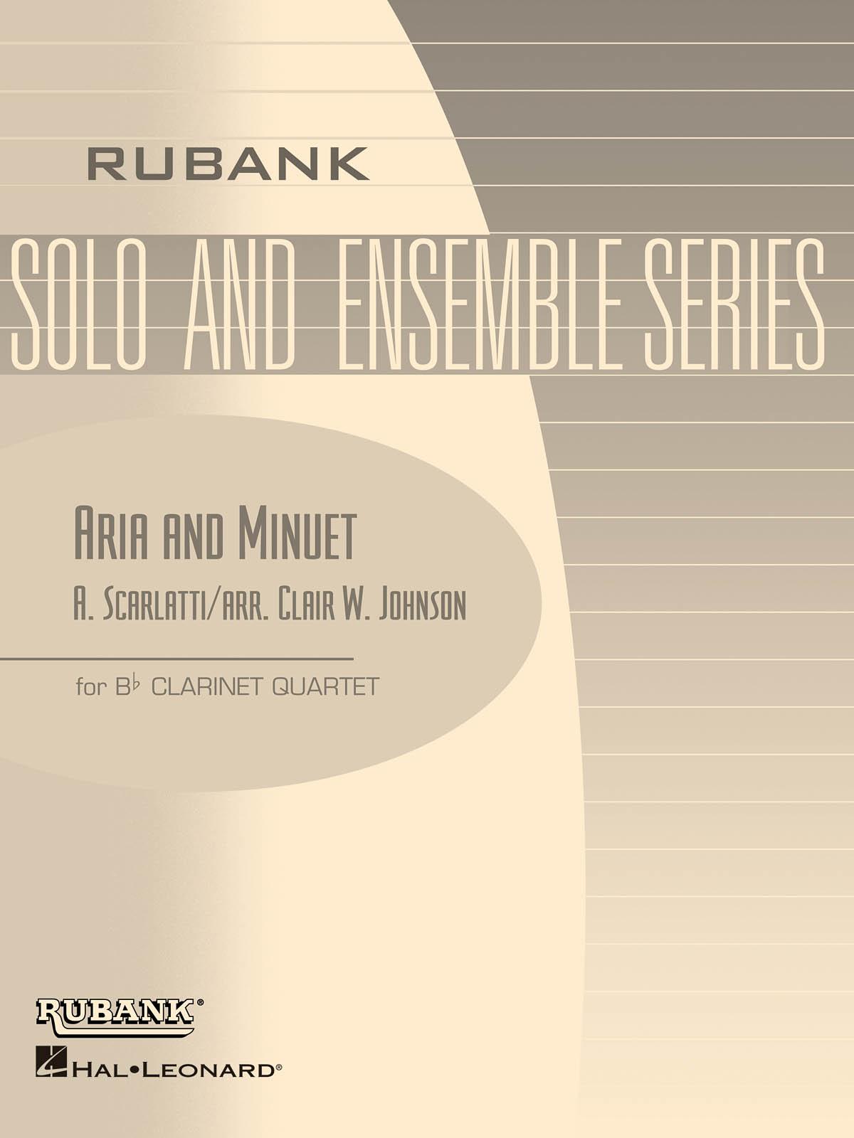 Alessandro Scarlatti: Aria and Minuet: Clarinet Ensemble: Part
