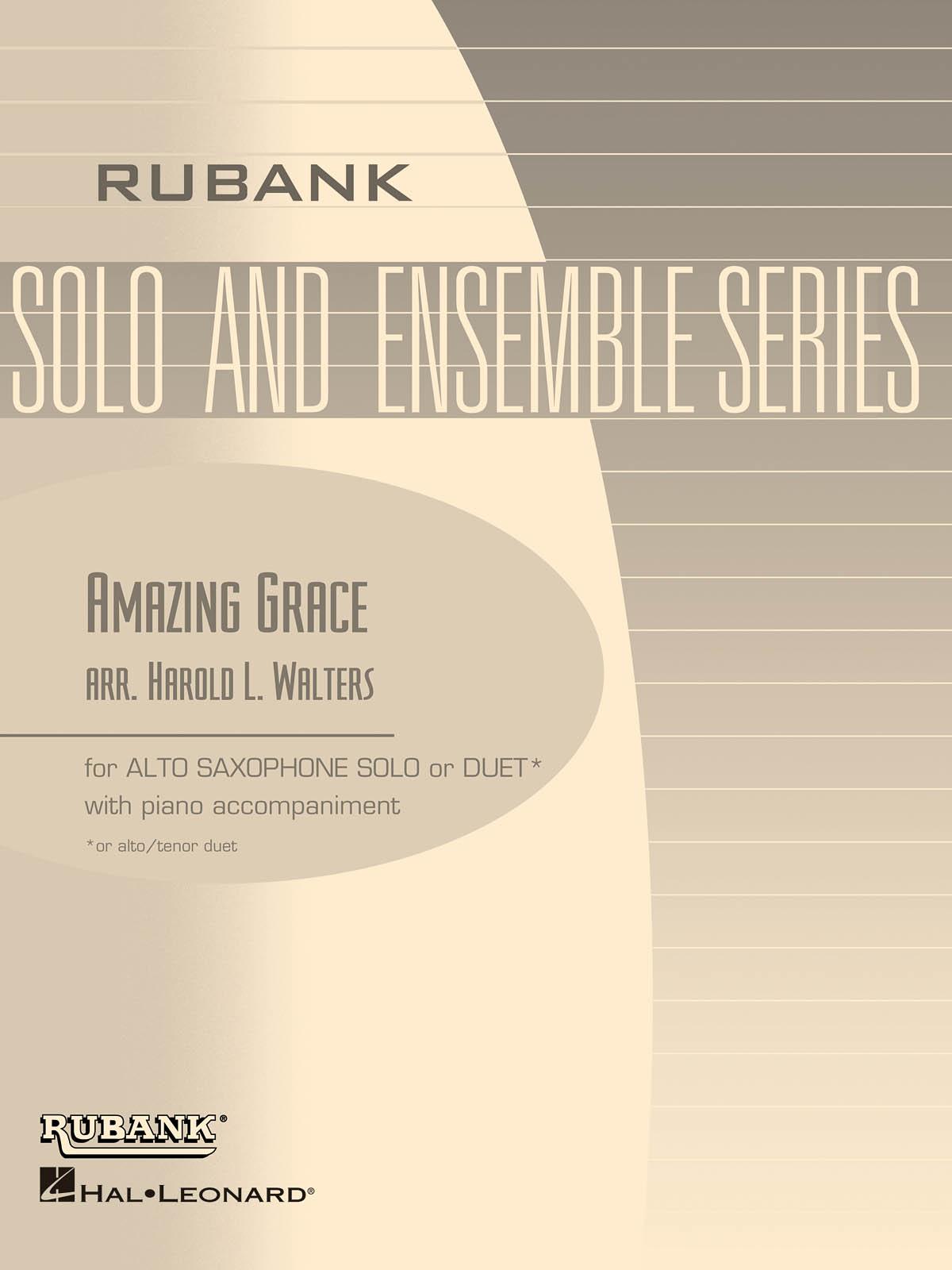 Amazing Grace: Alto Saxophone and Accomp.: Instrumental Album