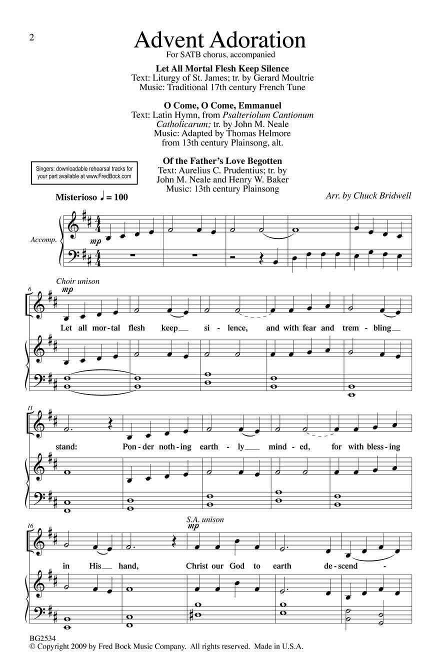 Advent Adoration: SATB: Vocal Score