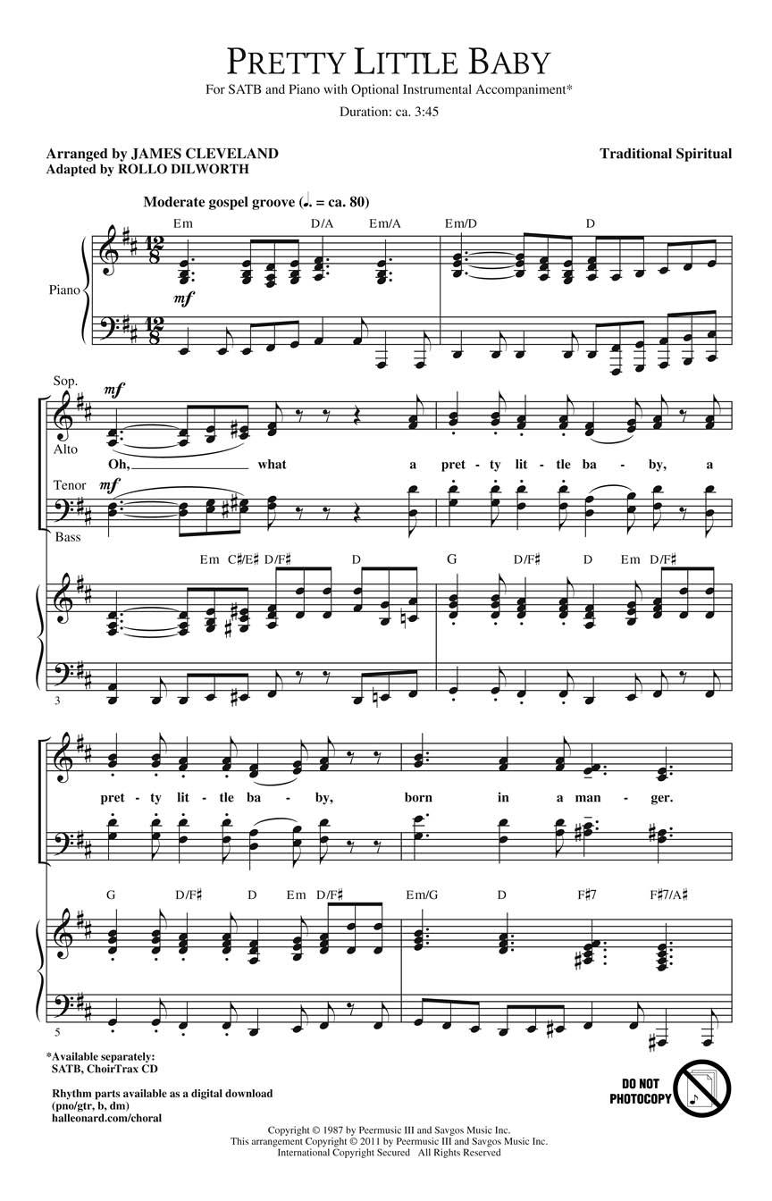 James Cleveland: Pretty Little Baby: SATB: Vocal Score
