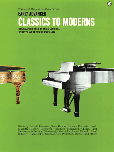 Early Advanced Classics to Moderns: Piano: Instrumental Album