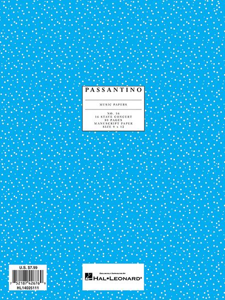 16. Manuscript Paper: 16-stave: Manuscript