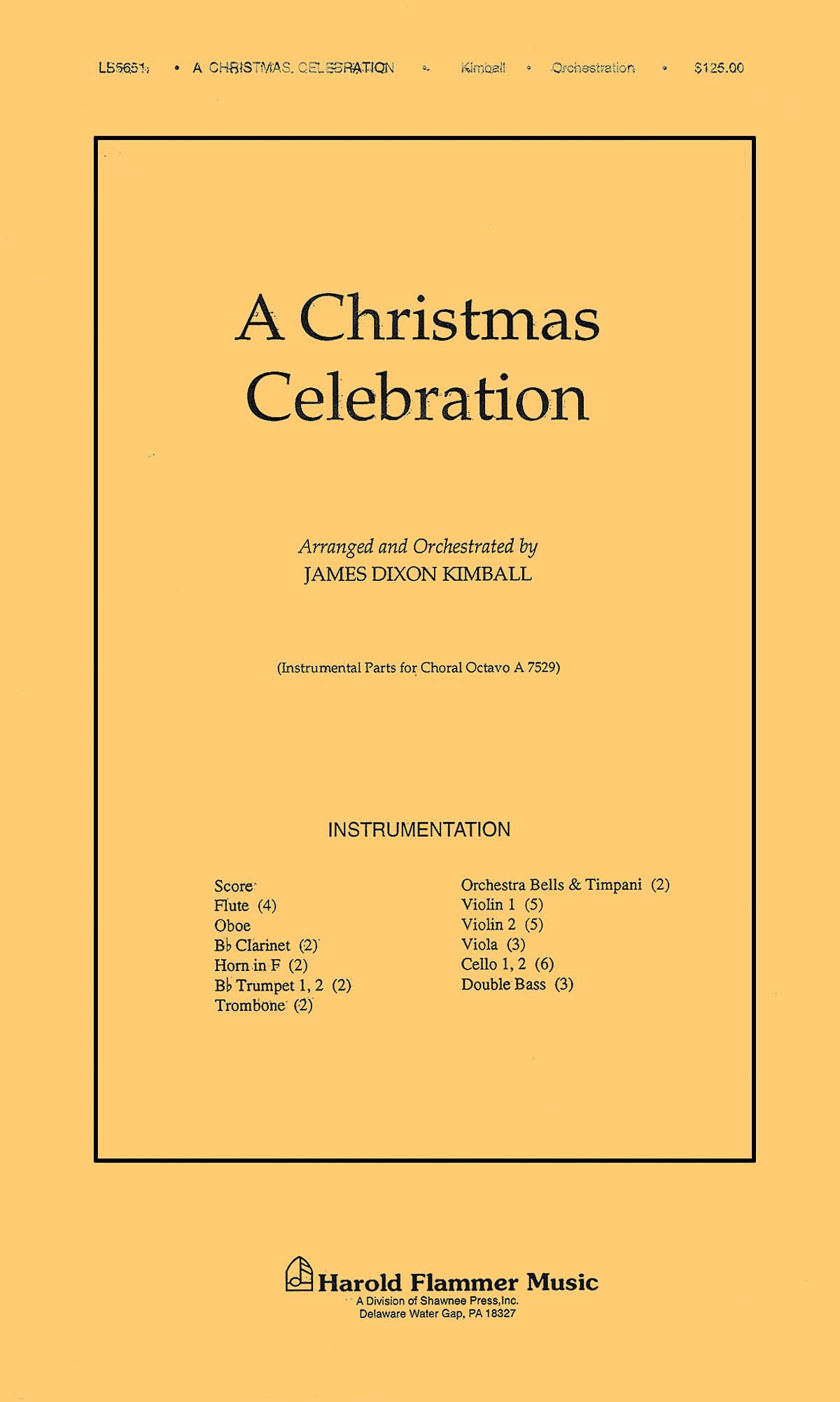 A Christmas Celebration: Orchestra: Parts
