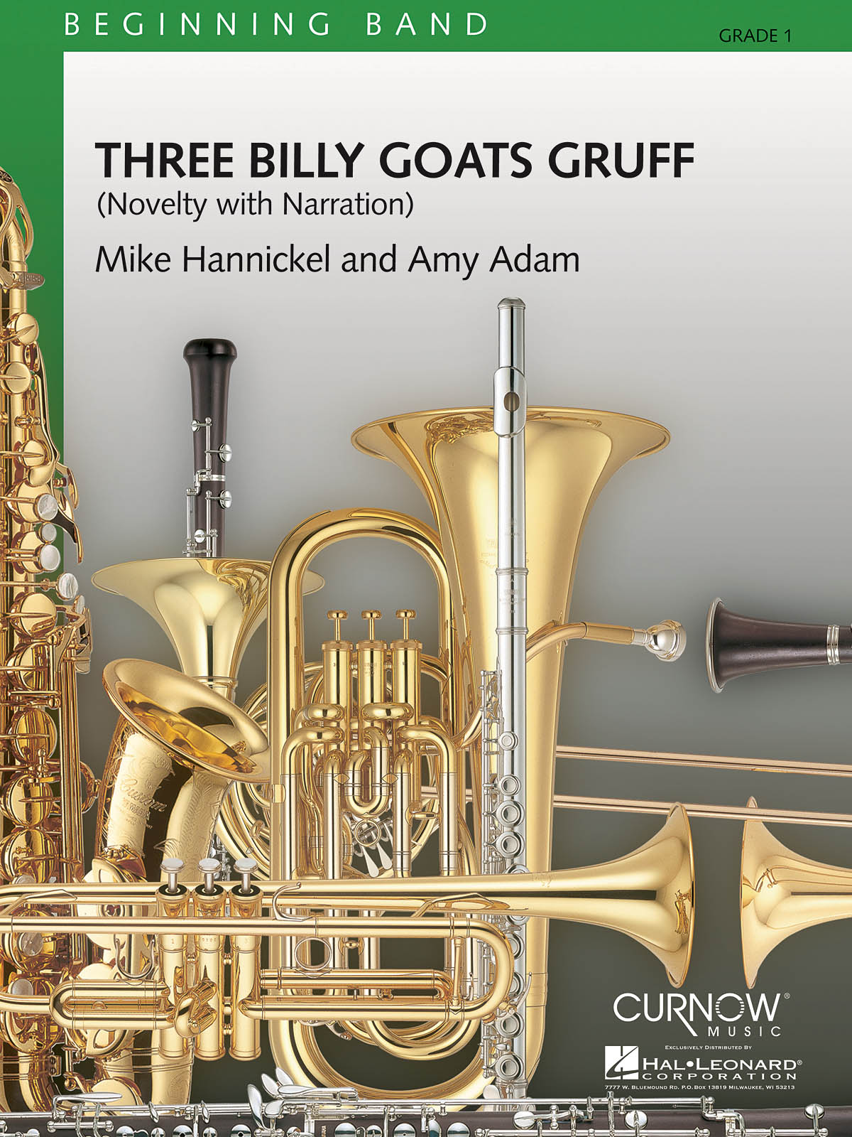 Amy Adam Mike Hannickel: Three Billy Goats Gruff: Concert Band: Score & Parts