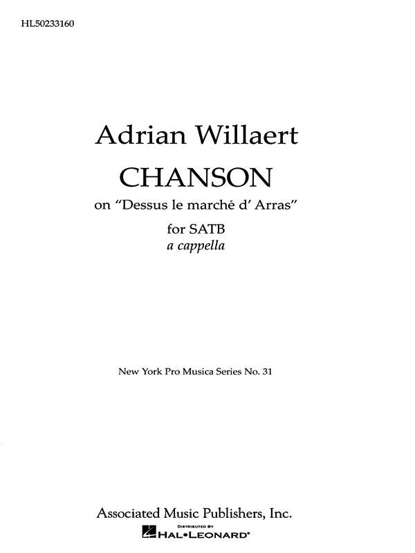 Adrian Willaert: Dessus le Marché d