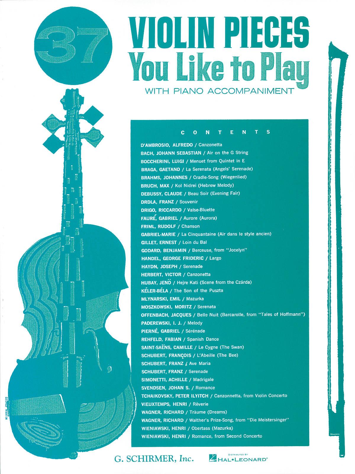 37 Violin Pieces You Like To Play: Violin: Instrumental Album