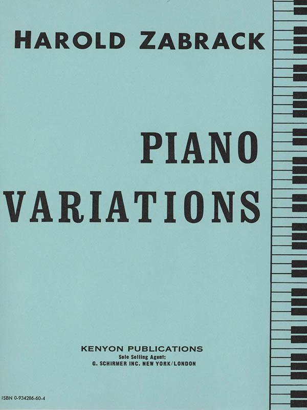 Harold Zabrack: PIANO VARIATIONS: Piano: Instrumental Album