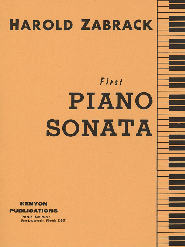 Harold Zabrack: Piano Sonata No. 1: Piano: Instrumental Work