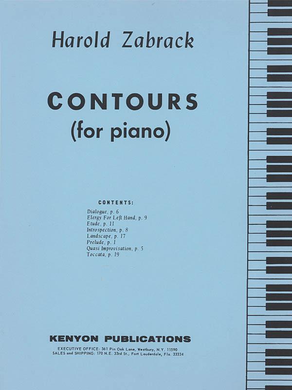 Harold Zabrack: Contours: Piano: Instrumental Work
