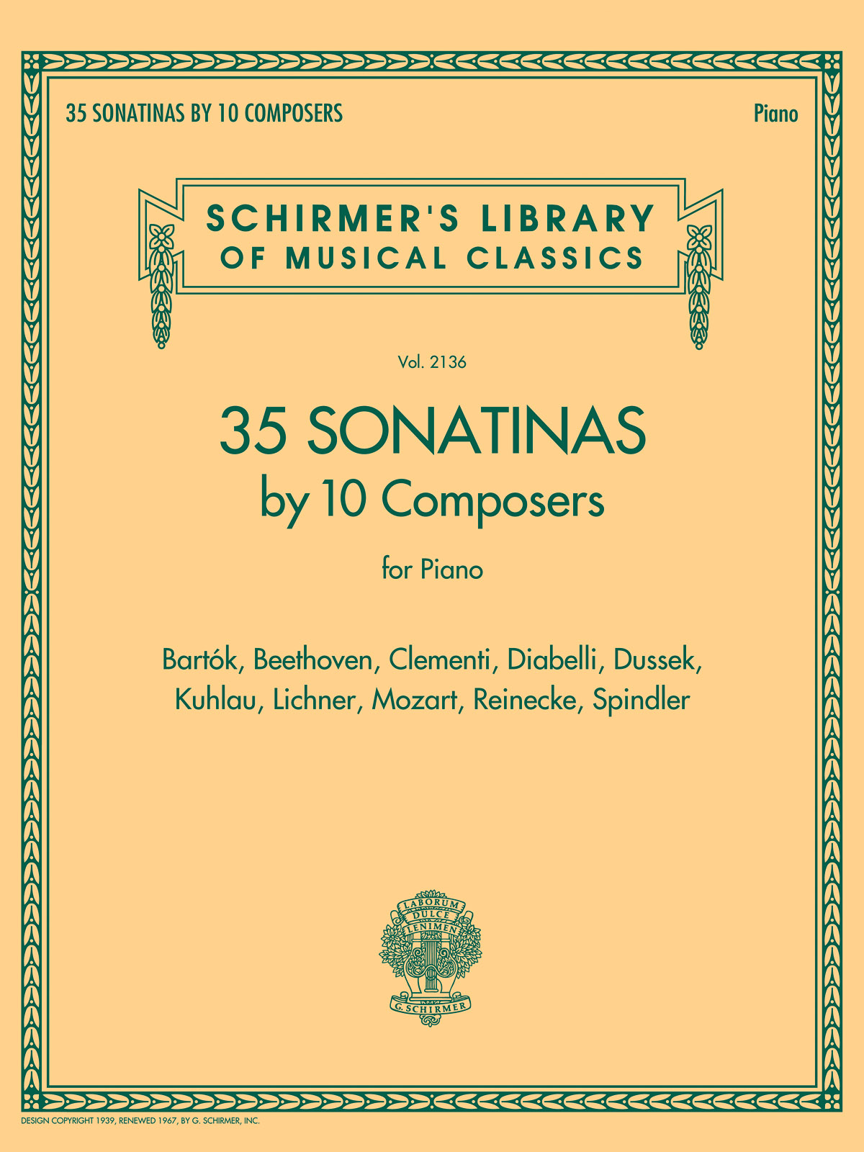 35 Sonatinas by 10 Composers for Piano: Piano: Instrumental Album