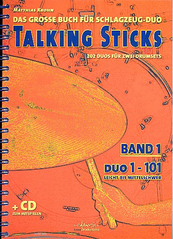 Matthias Krohn: Talking Sticks Band 1 (German). Sheet Music CD for Drums