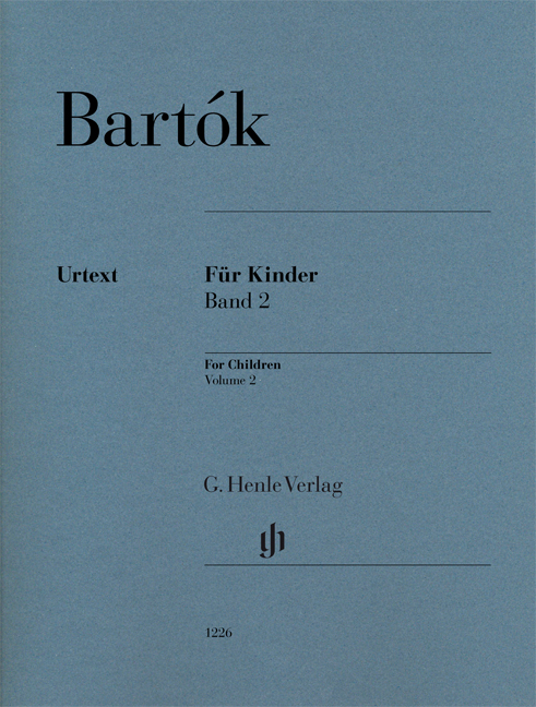 Béla Bartók: For Children Volume 2: Piano: Instrumental Work