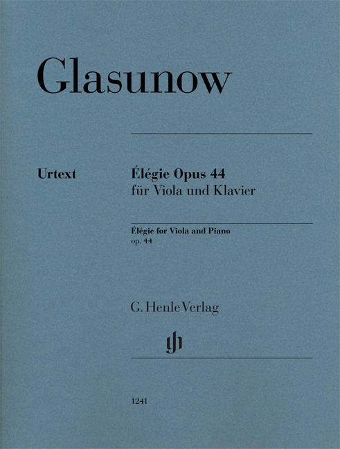 Alexander Glazunov: Élégie op. 44 for Viola and Piano: Viola: Instrumental Work
