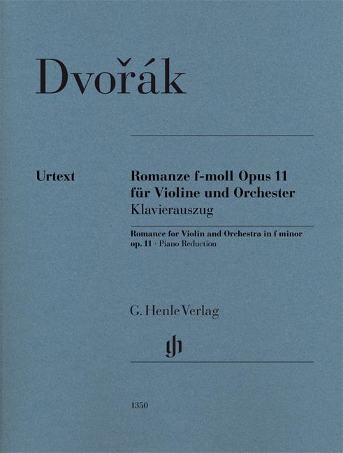 Antonín Dvořák: Romance In F Minor Op.11: Violin: Score and Parts