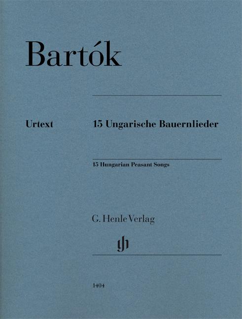 Béla Bartók: 15 Hungarian Peasant Songs: Piano: Instrumental Work