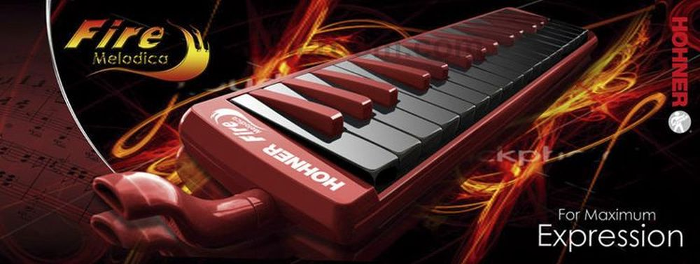 Fire Melodica 32 Key Red & Black: Melodica
